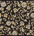 floral seamless pattern flower swirl background vector image