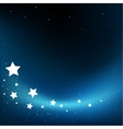 fly stars background vector image vector image