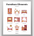 furniture elements flat pack vector image