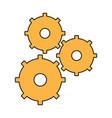 gear wheel team work vector image