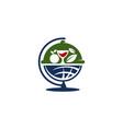 global best restaurant sharing vector image vector image