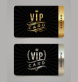 Golden and platinum vip card template vector image