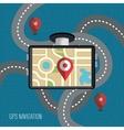 gps navigation design vector image vector image