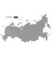 grey political map russia vector image vector image