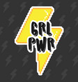 grl pwr print vector image vector image
