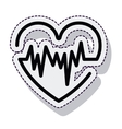 heart pulse isolated icon vector image vector image