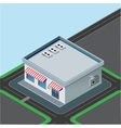 isometric little shop vector image vector image