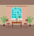 loft interior design living room with brick wall vector image vector image