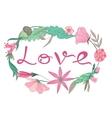 Love Lettering Vignette vector image