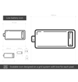 Low battery line icon vector image vector image