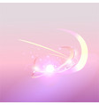 magic pearl with lights and abstract blurred vector image