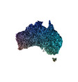 map of australia with a blue texture vector image vector image