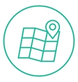 Map with pointer line icon vector image vector image