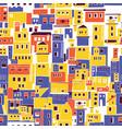 mediterranean town sunny village indian slums vector image vector image