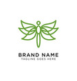 minimalist elegant dragonfly logo design vector image vector image