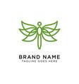 minimalist elegant dragonfly logo design with vector image vector image