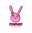 modern cute bunny girl logo vector image