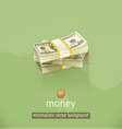Money minimalistic background vector image vector image