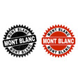 mont blanc black rosette seal with grunge surface vector image vector image