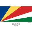 National flag of Seychelles with correct vector image vector image