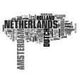 netherlands word cloud concept vector image