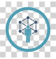 Network Administrator Flat Rounded Icon vector image vector image
