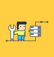 network engineer repair server vector image