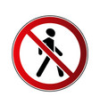 no walking sign vector image vector image