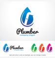 plumber logo template design vector image
