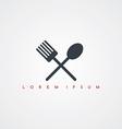 restaurant theme icon sign logotype vector image vector image
