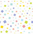 seamless texture with random colorful squares vector image vector image
