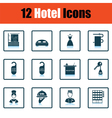 Set of twelve hotel icons vector image