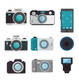 set photographic equipment design vector image