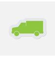 simple green icon - van vector image