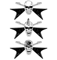 skull with guitars vector image vector image