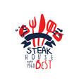 steak house logo best estd 1968 vintage label vector image vector image