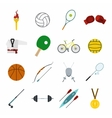 Summer sport flat icons set vector image vector image