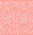 tender coral pattern with hand drawn swirls vector image vector image