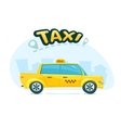 The yellow taxi vector image vector image