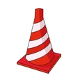 Traffic cone icon in cartoon style isolated on vector image