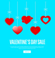 valentines day sale card template vector image
