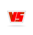 Versus letters logo vector image vector image