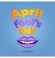 Violet lips vector image