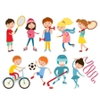 Young kids portsmens isolated on white vector image vector image