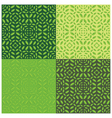 Leaves Seamless Pattern Set of Four vector image
