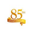 85 year ribbon anniversary vector image vector image