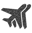 Airplanes Icon Rubber Stamp vector image vector image