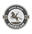 american rodeo show isolated label vector image vector image