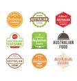 Australian cuisine label vector image vector image