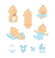 baboy icons set vector image vector image